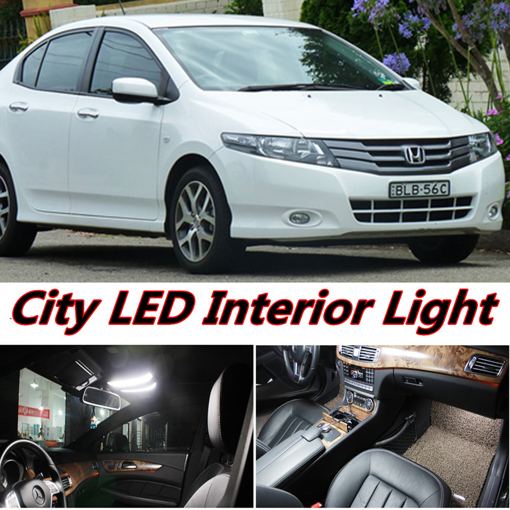 4pcs X Free Shipping Error Free LED Interior Light Kit Package For Honda  City Accessories 2008