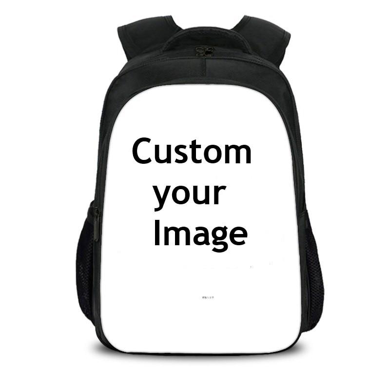 Custom Your Image Logo Name Backpack DIY Cartoon Backpacks Boys Girls School Bags Kids Gift Mochila escolar