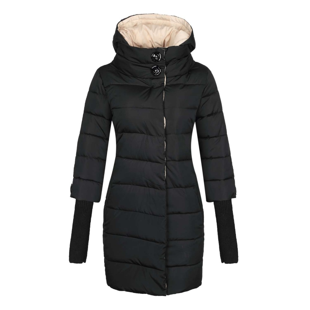 ФОТО 2017 Brand Winter Down Parkas Jacket Women's Hooded Cotton-padded Jacket Long Coat plus Size 3XL size Fashion cotton coat