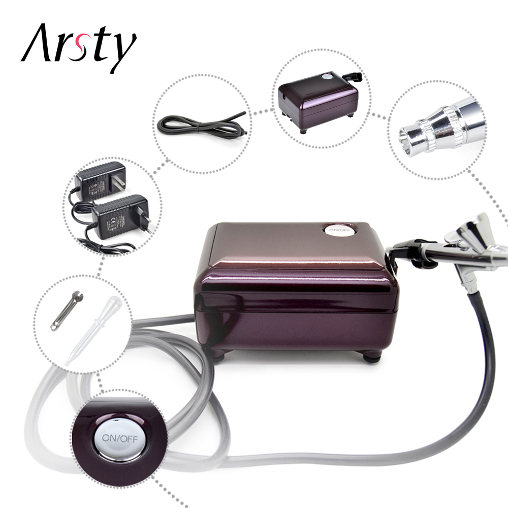 koupit elera airbrush - ARSTY Airbrush Compressor  for nail Airbrush Tattoo Make Up 3 Speeds Adjustable  Airbrush For Nail And Cake Painting