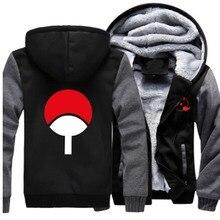 New Winter Jackets and Coats Naruto hoodie Anime Uzumaki Naruto Luminous Hooded Thick Zipper Men Sweatshirts
