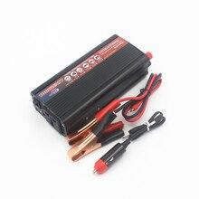 Автомобильный инвертор 1000 Вт постоянного тока 12 В в переменный ток 220 в автомобильный блок питания переключатель бортового зарядного устройства автомобильный инвертор