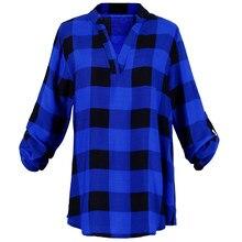 cbd17fa11 Moda Plaid camiseta T camisa mujeres ropa túnica Camisetas Mujer Tops  Casual red Camiseta Tee superior Plus tamaño XXXXL 5XL ver.