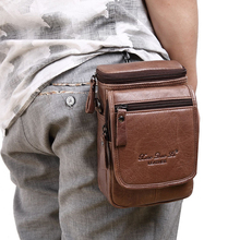 Genuine Leather Men Belt Waist Bags Fanny Packs Travel Shoulder Crossbody Bags For Man Bum Phone Pouch Male Casual Coin Purse