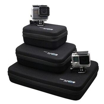 Camera case For Gopro Accessories Storage Bag Carry Case for Xiaomi Yi 4K Go pro Hero 7 6 hero5 4s Sjcam Sj4000 Action camera 4k lens 12mm 1 1 8 inch 34d m12 hfov 10mp lens for gopro hero 4 3 gitup 2 action camera sjcam sj4000 xiaomi yi 4k sport dv lens