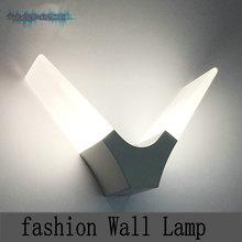6W Warm White LED Wall Lamp Minimalist Bedroom Living Room Hallway Wall Sconce Acrylic Light Lighting