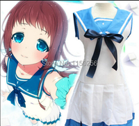 Anime Nagi No Asukara Cosplay Mukaido Manaka Costume Halloween School Girl Uniform Dress Free Size New