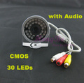 30 LED IR Wired CCTV Night Video Audio Security Camera