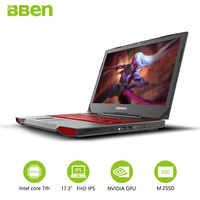 BBEN G17 компьютерной игры 17,3 дюймов Windows10 Intel I7 7700HQ 8 Оперативная память 128 г SSD 1 ТБ HDD Nvidia GDDR5 6G ram FHD клавиатура с подсветкой