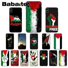 Babaite livre palestina bandeira de luxo design exclusivo caso capa do telefone para o iphone 8 7 6 s plus 5 5S se xr x xs max coque escudo(China)