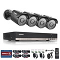 Sistema de seguridad 8ch cctv annke 4 unids 1.3 mp cctv cámaras de vigilancia de visión nocturna ir cut superior kit