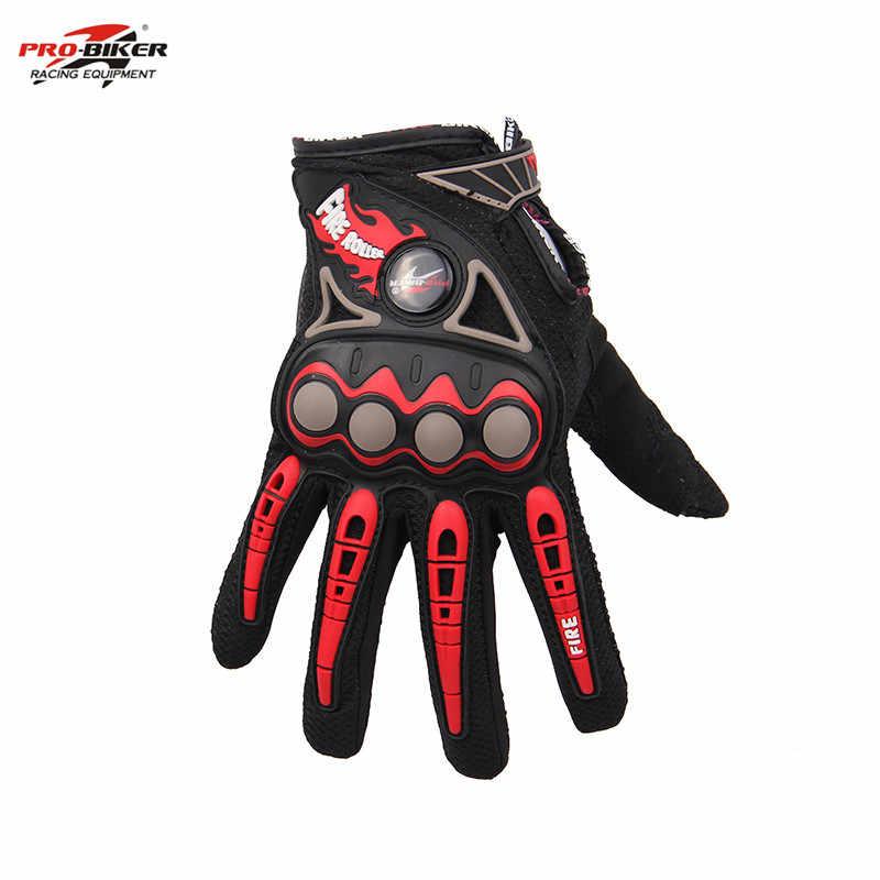 אצבע מלאה אופנוע כפפת MTB טרקטורונים מרוצי Moto אנדורו כפפות רכיבה רכיבה על אופניים Guantes Luvas 4 צבעים M-XL מוטוקרוס כפפות