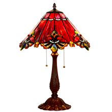 Home Art Deco Stained Glass Tiffanylamp Bed side Large Vintage Luxury Table Lamps For Bedroom Living Room Office Decoration