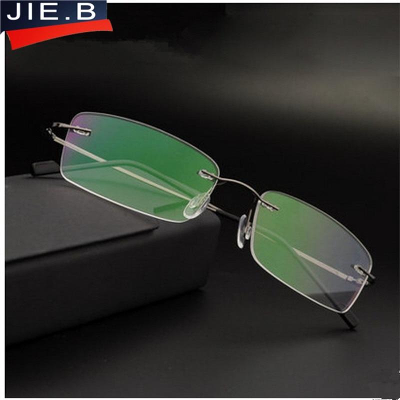 2016新しい販売ブランドチタンリムレス超軽量メガネフレーム老眼鏡ケースoculos + 1.0、+ 1.5、+ 2.0、+ 2.5、+ 3.0