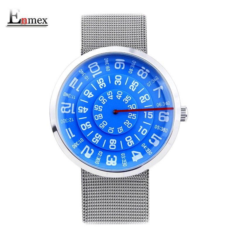 2017 Enmex neutral spezielle design armbanduhr digitale ära wasserdichte kreative einfaches design mode quarz unisex uhren