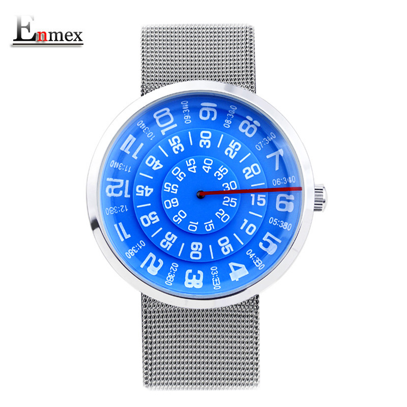 2017 Enmex neutral special design wristwatch digital era waterproof creative simple design fashion quartz unisex watches