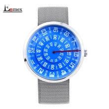 2017 Enmex neutral special design wristwatch digital era  waterproof creative simple design fashion quartz unisex watches
