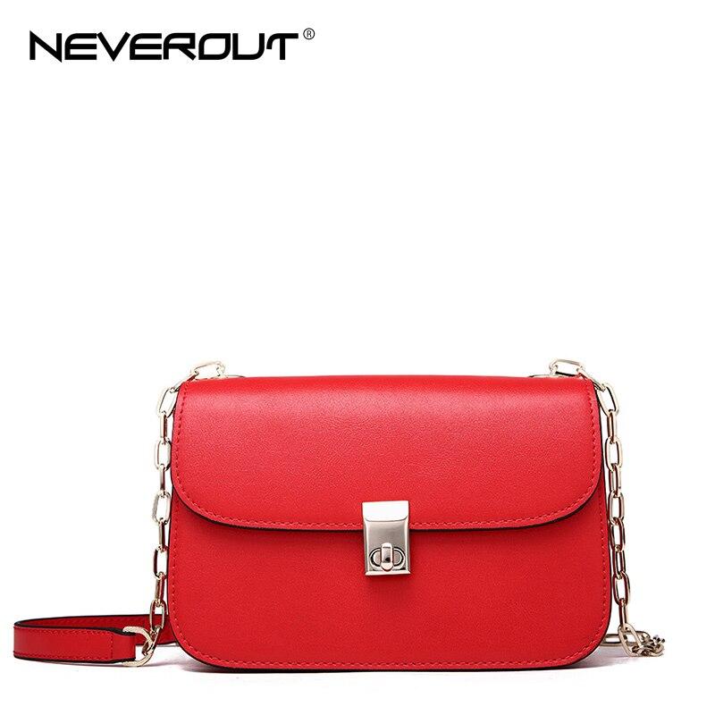 Neverout Brand Evening Bag Split Leather Crossbody Bags for Women Solid Fashion Messenger Bag 2 Color Shoulder Sac Luxury Design neverout brand name shoulder bag sac