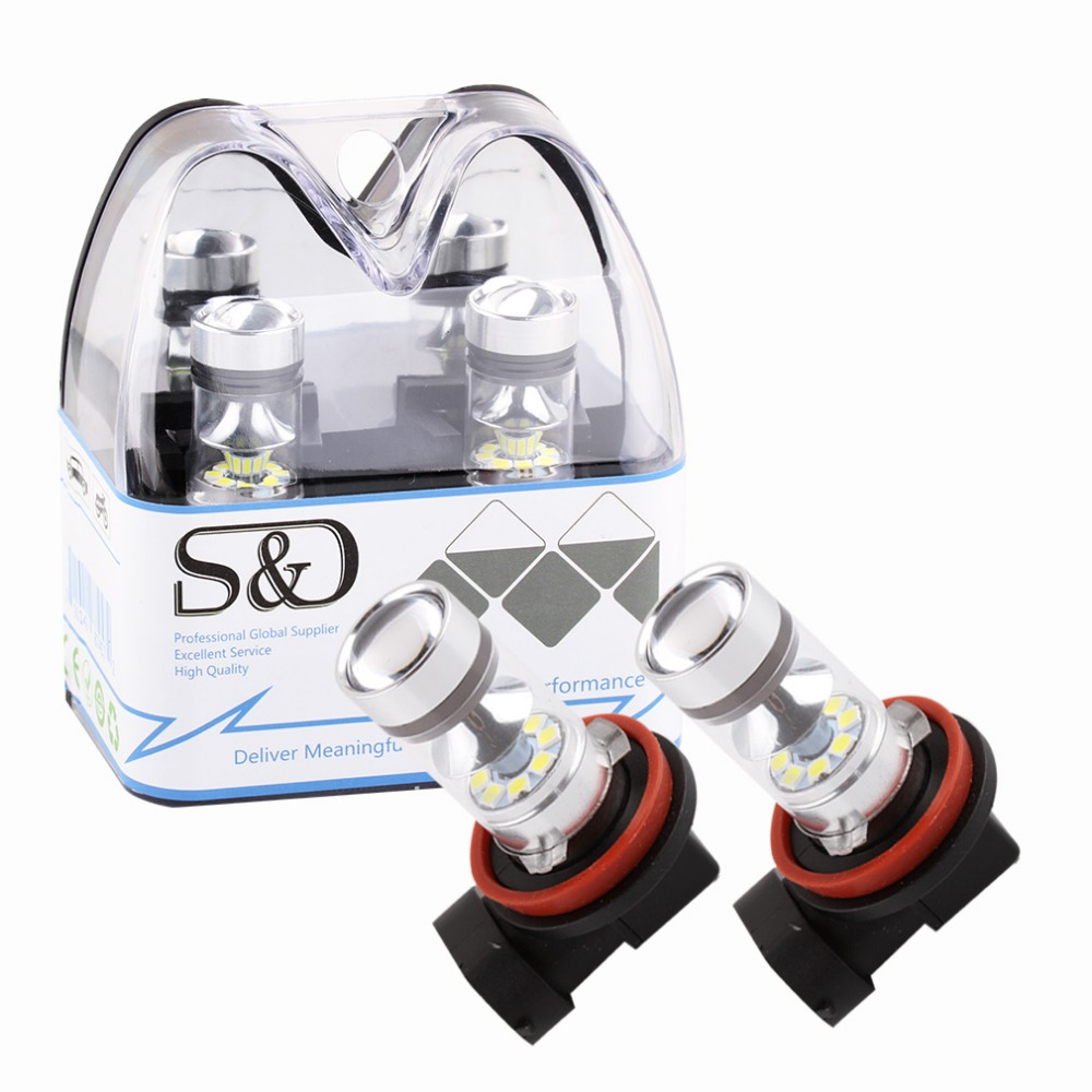H8 H11 Super Bright LED Bulbs Car Fog Lights DRL Driving Tail Lamp Car Light Source parking 1250LM 12V - 24V 100W 6000K White