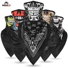 Seamless Motorcycle Skull Magic Neck Gaiter Face Mask Head Shield Sport Camping Cycling Fishing Bandana Headband Scarf Men Women цена и фото