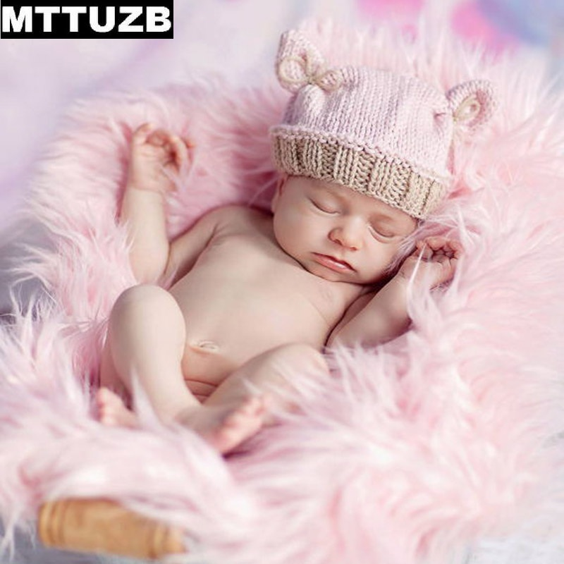 MTTUZB Handmade newborn photo props baby girls boys fashion knitted hats beanies infant photography props children accessories mttuzb newborn baby photography props infant knit crochet costume boys girls photo props children knitted hat pants set