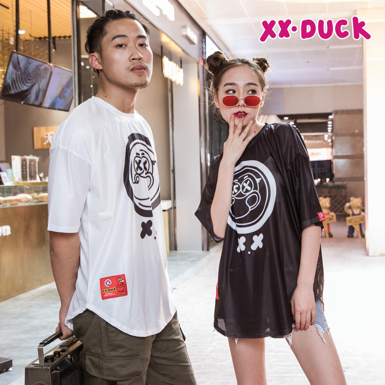 XXDUCK Versatile Short-sleeved Popular Logo Loose Hip-hop T-shirt Cartoon Cute X Duck Breathable Women's New Hip-hop Couple