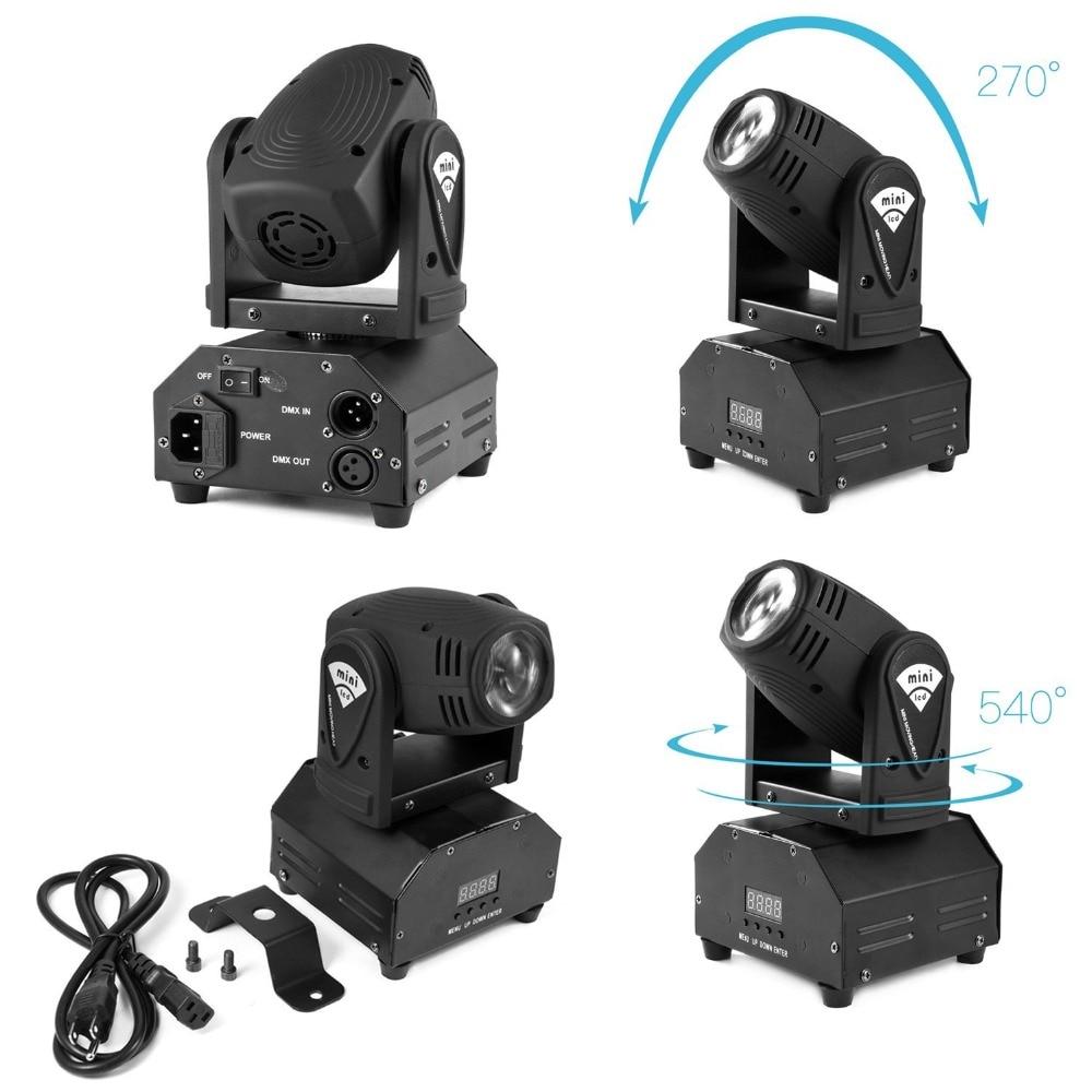 (2 pieces/lot) Mini LED Beam Moving Head Party Light Quad color DJ Light voice active DMX Auto-run
