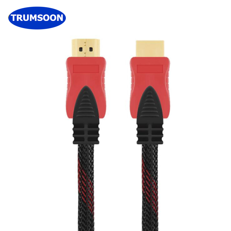 Trumsoon HDMI 1.4 Cable Standard High Speed Male-Male 3D 1080P Cable for TV PS4 Projector PC DVD 1.5/3/5/10/15/20/25m