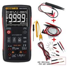 Q1 True RMS Digital Multimeter Transistor Tester Auto Button 9999 Counts With Analog Bar Graph AC/DC Voltage Ammeter Current Ohm