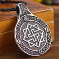 Black Sun Pendant Double Side Valkyrie Amulet Charm Slavic Valkyrie Pendant Drop Shipping