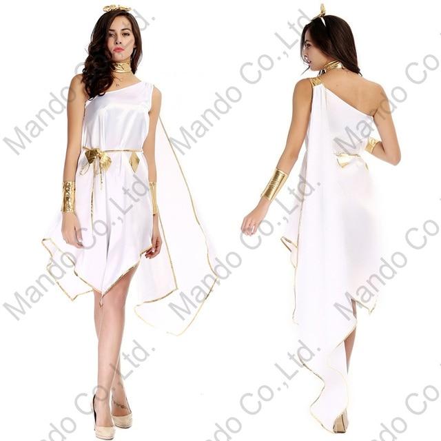 Erwachsene Frauen Sexy Griechischen göttin Athene Weißes kleid ...