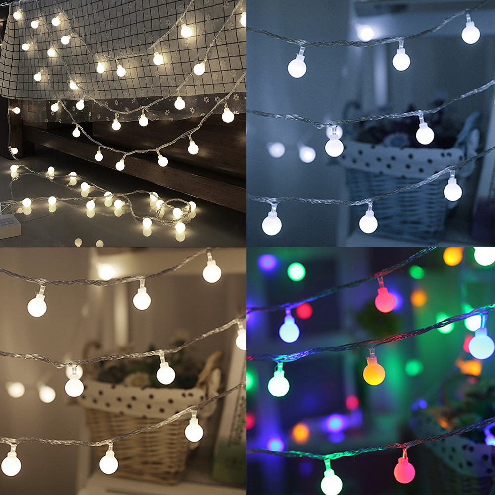 Merry Christmas Lights.Us 7 45 22 Off Chrisrmas Fairy Led String Little Colorful Lights Merry Christmas Round Ball Blubs Wedding Party Lamp 6m 10m In Party Diy Decorations