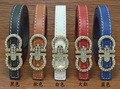 2016 Nuevos niños del diseñador de LA PU cinturones de cuero niños niñas Carta hebilla de Ocio cintura strapwaistband envío libre 1.4 CM #9