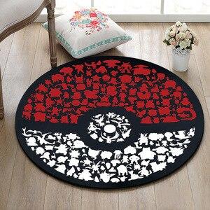 Image 3 - Tapis rond de pokémon Go Ball, Velboa, en mousse à mémoire de forme, pour la maison, chambre à coucher, tapis de sol de salle de bains, pour la maison