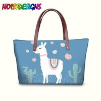 Women's Shoulder Bag Women Handbag Casual Large Cute Llama Alpaca High Quality Printed bags Ladies bolsos mujer torebki dams