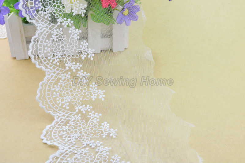 11cm width cotton embroid lace sewing ribbon guipure lace trim or fabric warp knitting DIY Garment Accessories free shipping3215