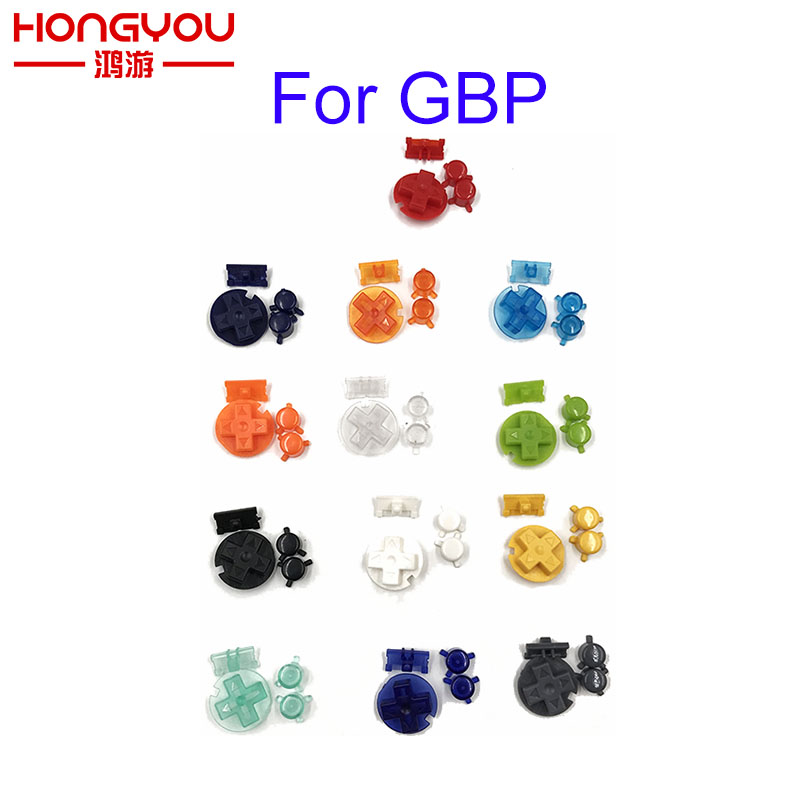 10Sets 4 In 1 A B Buttons Keypads For Nintendo GBP Buttons D Pads Power Buttons