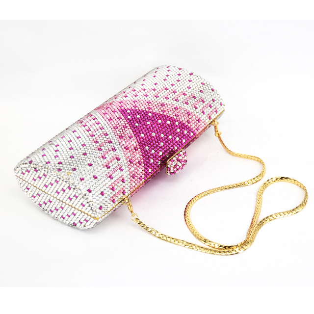 Stylish, Graceful, Luxury, Diamante, Crystal & Rhinestone Evening Clutch Bag