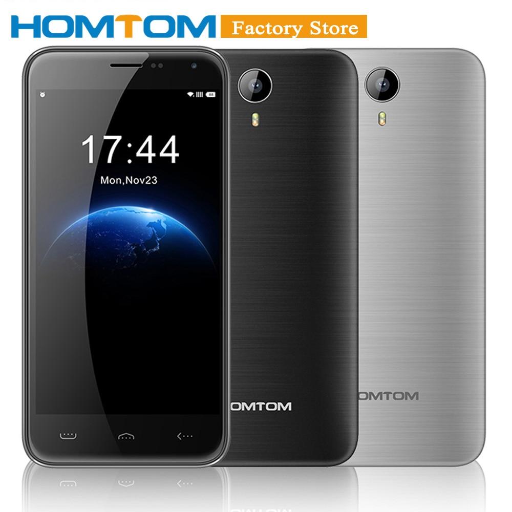 "Оригинальный HOMTOM HT3 5,0 ""HD 1280*720 Смартфон Android 5,1 MTK6580A 4 ядра 1 г + 8 г 5MP dual SIM 3000 мАч мобильный телефон с кино"