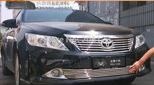 Front Center Grill Grid Grille Cover Trim Stainless Steel 304 For 2012 -2014 For Toyota Camry