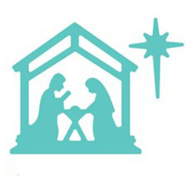 mary joseph and baby jesus metal cutting dies stencil for diy