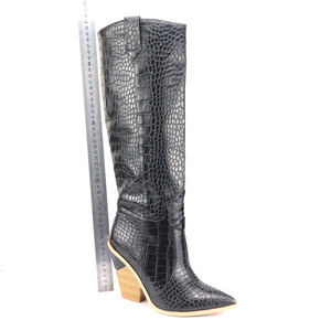 Image 3 - 7 colors 2020 New Brand women boots pointed toe thick high heels knee high boots autumn winter shoes slip on sexy ladies shoes