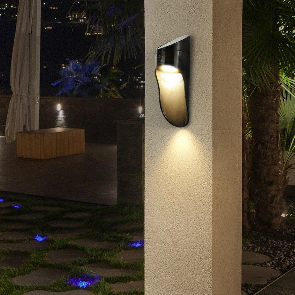 KHLITEC LED Solar Power Microwave Sensor Wall Light 15 LED Outdoor Waterproof Energy Street Yard Path Home Garden Security Lamp