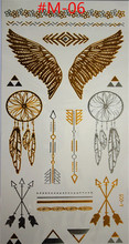 2015 Sex products temporary body art style of tattoo shiny gold and silver metal temporary flash disposable indians tattoo