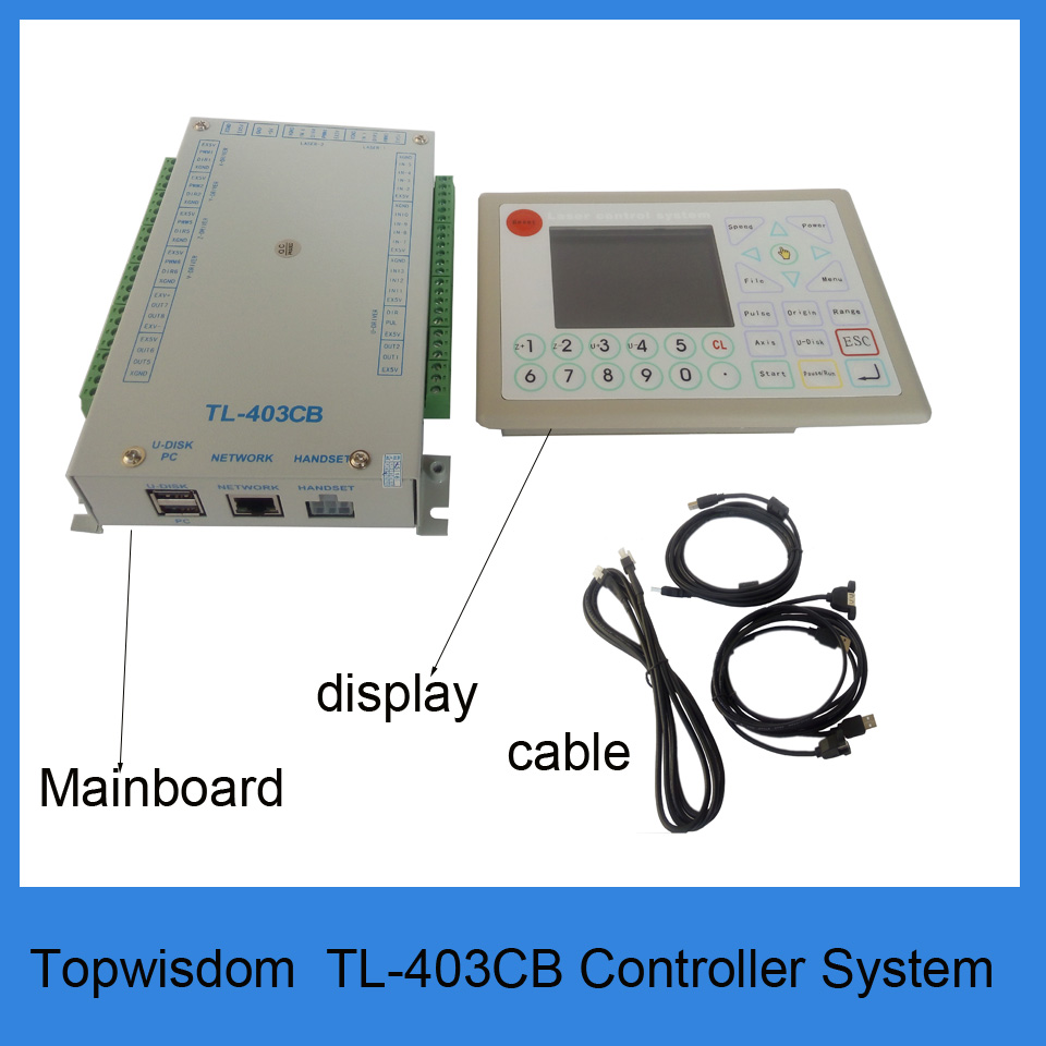 ③Topwisdom TL403CB co2 Sistema de Control de láser para el grabado ...