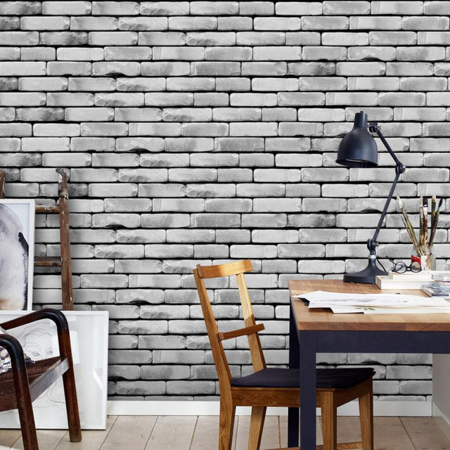 1pc 20cm*500 Cm Self Adhesive Tile Art PVC Wall Decal DIY Wall Sticker Brick