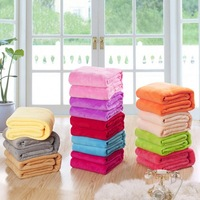 High Quality Spring Blankets Coral Fleece Plain Coloured Wool Blanket Air Conditioning Travel Portable Throw Blanket