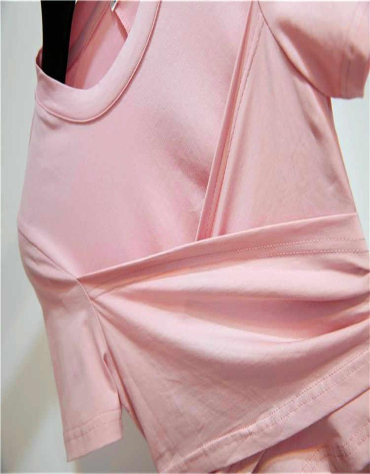 2019 новые модные дизайнерские Подиумные комплекты летние женские розовые топы с короткими рукавами + Женская сетчатая юбка с принтом розы комплект из 2 предметов