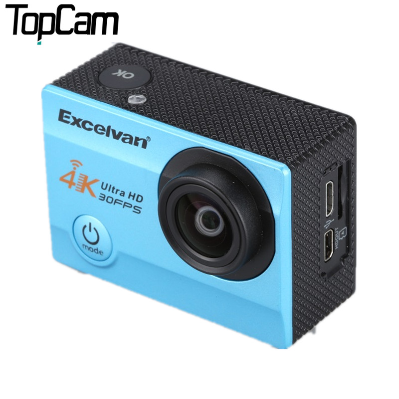 Excelvan Q8 Sports Action Camera 2.0 Inch Screen 4K 30M Waterproof For Gopro Car Camera RecorderHelmet DV DVR Sports Action Cam