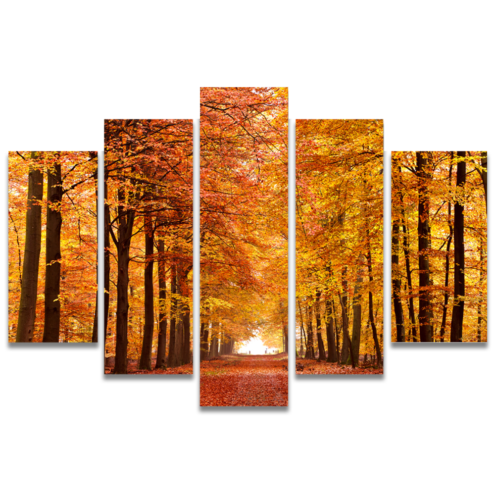 Unframed Canvas Painting Maple Forest Maple Avenue Photo Picture Prints Wall Picture For Living Room Wall Art Decoration